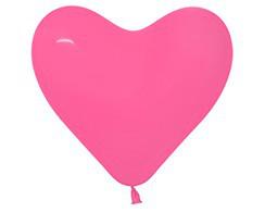 """Воздушные шары Сердца 6""""(15см) Фукция 015 пастель.В упак:100 шт. TM Sempertex"""