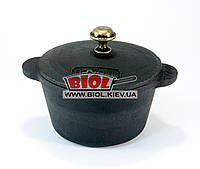 Кастрюлька чугунная порционная 300мл 10х6см с крышкой BRIZOLL