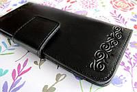 Современный кошелёк из натуральной кожи с узором Завиток, фото 1