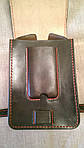 Кожаная сумка байкера Hand Made 512, фото 5