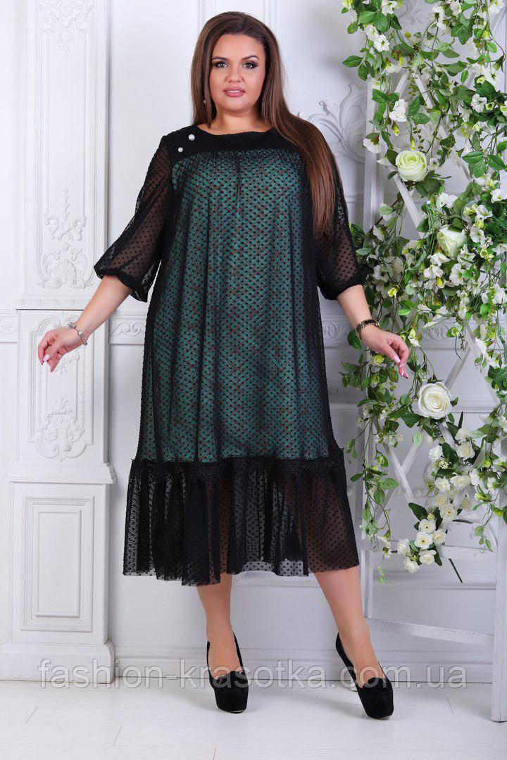 Модное женское платье в размерах 50-56