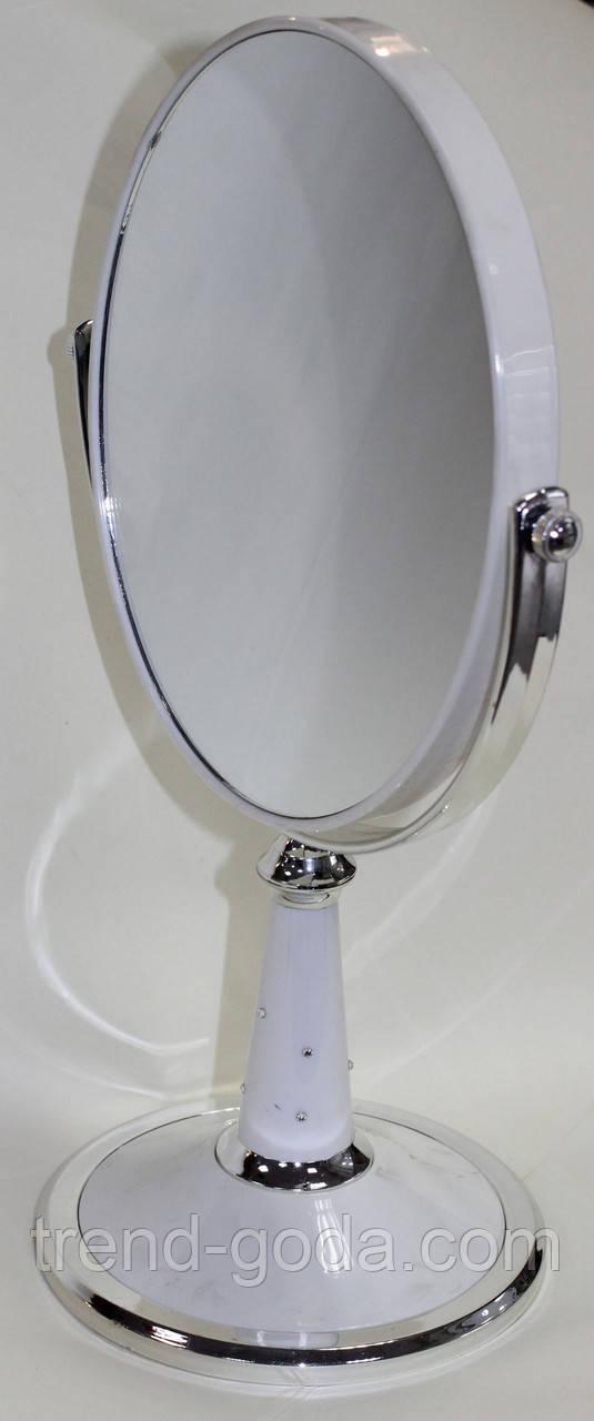 Зеркало на подставке, овальное, стразики