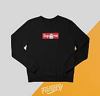 Свитшот Supreme x RipNDip Box Logo | черный | толстовка | реглан