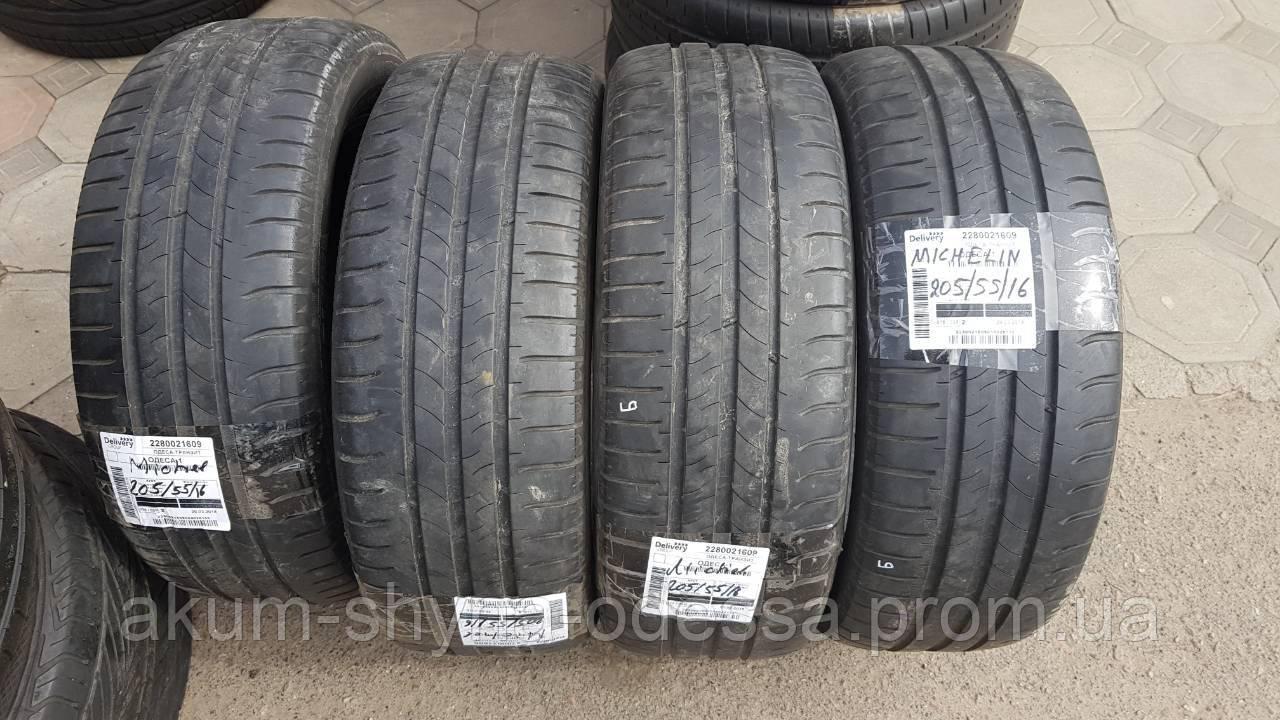 Шины летние б/у 205/55 R16 Michelin, протектор 6+мм, комплект