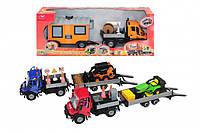 Набор игрушечных машинок Городская техника с прицепом и аксессуарами., 46 см вида