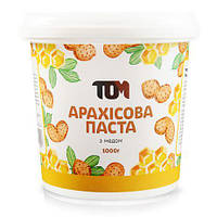 ТОМ Арахисовая паста(с натуральным медом) 1000 грамм