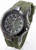 Мужские наручные часы Sport (зеленые метки), фото 1
