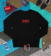 Свитшот Supreme x Louis Vuitton Box Logo | черный | толстовка | реглан | реплика