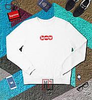 Свитшот Supreme x Louis Vuitton Box Logo | белый | толстовка | реглан