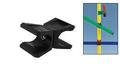 Клипса для крепления палки гимнастической (1шт)  (пластик, р-р 6,5x4см, для палок d-2,5см)