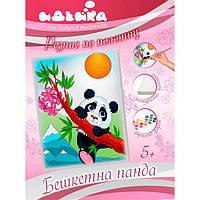 Роспись по полотну - Озорная панда 7130