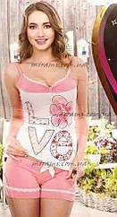 Молодежная женская пижама с шортами