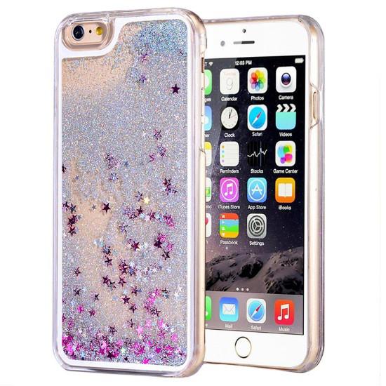 Чехол для iPhone 6 6S жидкий с блестками