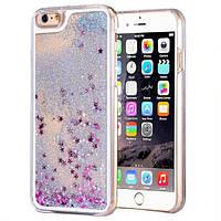 Чехол для iPhone 6 6S жидкий с блестками, фото 1