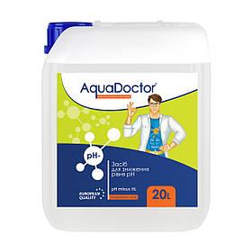 Жидкое средство для снижения pH (соляная 15%) | AquaDoctor pH Minus HL 20 литров