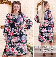 Модное  женское платье из шёлка  с 48 по 62 размер