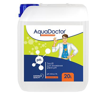 pH минус жидкий HL AquaDoctor 20 литров на основе соляной кислоты