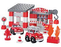Конструктор Скоростное авто. Пожарное депо, 59 элем.