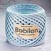 Трикотажная пряжа Bobilon Micro (3-5мм). Небесно-голубой