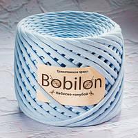 Трикотажная пряжа Bobilon Mini (5-7мм). Небесно-голубой