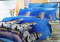 Полуторное постельное белье полиСАТИН 3D (поликоттон) 853998