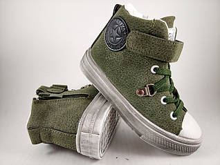 Обувь для мальчиков, детские ботики хаки, Jong.Golf