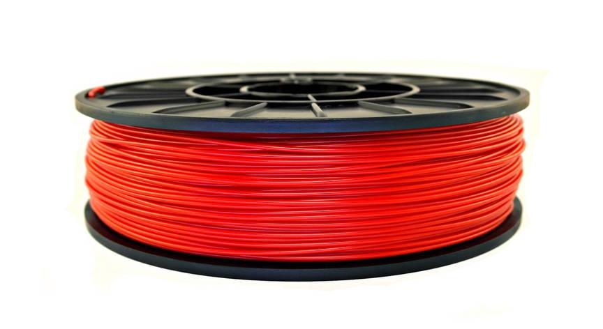Нить ABS Premium (АБС) пластик для 3D принтера, Красный (1.75 мм/0.5 кг), фото 2
