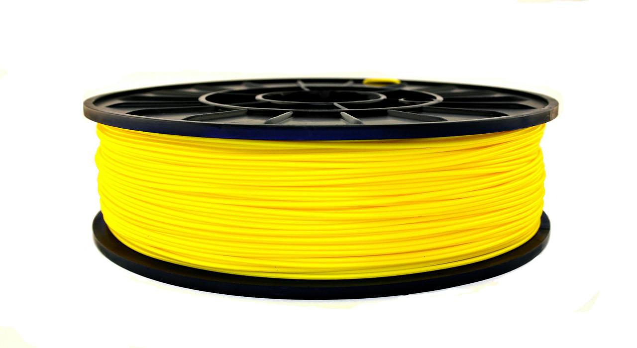 Нить ABS Premium (АБС) пластик для 3D принтера, Желтый (1.75 мм/0.75 кг)