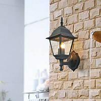 Садовый настенный фонарь Кантри  PL4101 черный, металл