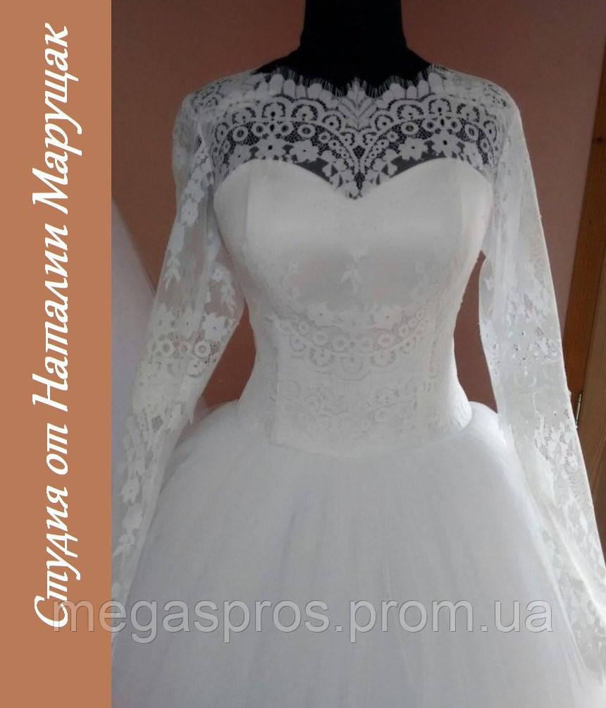 Свадебное платье из еврофатина. Белое 1cb01fcaea0a9