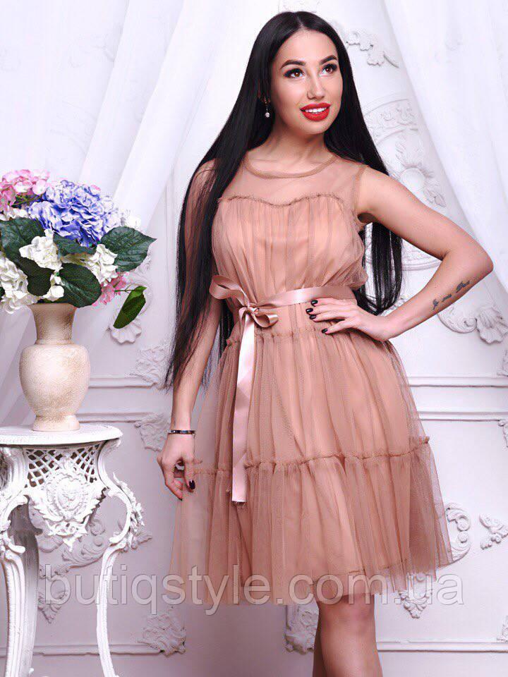 8eaccd60d73 Красивое женское шифоновое платье под пояс розовое