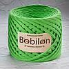 Ленточная пряжа  Bobilon Mini (5-7мм). Зеленое яблоко