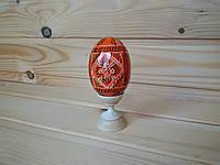 Крашанки расписные пасхальные 6х4 см, продолговатые, оранжевые