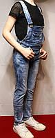Джинсы-комбинезоны для девочек современные, стильные от 4 до 12лет. (104-152см.). Child Face. Польша., фото 1
