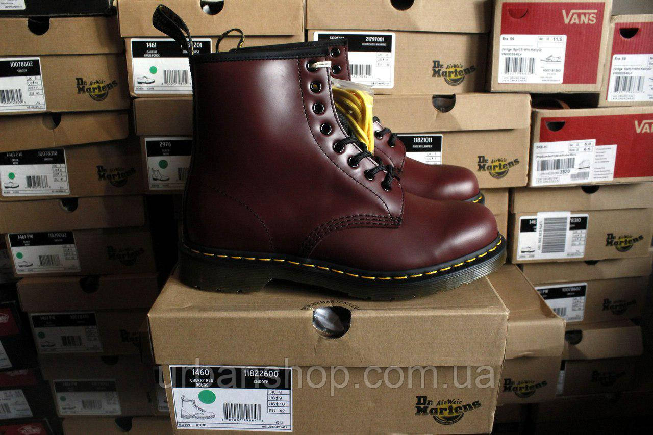 Dr. Martens 10072600-1460 Cherry Red, Bordo, мартенси, мартіна, мартенс, ORIGINAL.