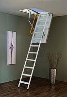 Чердачная лестница Steel Termo 120х70 Minka белая металлическая с утепленной крышой