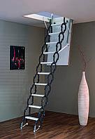 Чердачная лестница Elegance Termo 120х70 Minka раздвижная металлическая с утепленной крышой