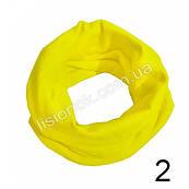 Трикотажный шарф хомут Желтый