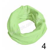 Трикотажный шарф хомут Светло-зеленый