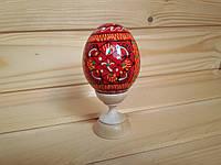 Декоративные пасхальные яйца 6.5 х 4.5 см на Пасху, трехсекционные, красные