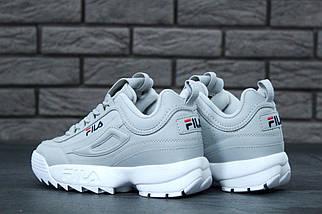 Женские кроссовки Fila Disruptor 2(II) Grey/White, фото 2