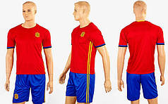 Форма футбольная детская SPAIN домашняя 2016  (полиэстер, р-р XS-XL, красный-синий)