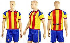 Форма футбольная детская VALENCIA гостевая 2016  (полиэстер, р-р XS-XL, желтый-синий)