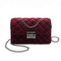 Женская сумка через плечо бархатная в стиле Furla
