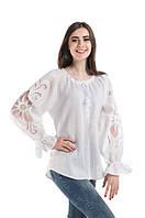 Блуза вишита Gua Диво-Квітка з рішельє M біла (7102-M), фото 1