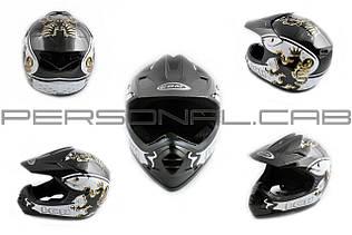 Шлем кроссовый   (mod:B15) (size:XL, черный, CROSS)   COM