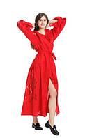 Сукня вишита Gua Диво-Квітказ рішельє XS червона (8201-XS), фото 1