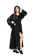 Сукня вишита Gua Диво-Квітка з рішельє XS чорна (8203-XS), фото 1