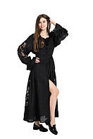 Сукня вишита Gua Диво-Квітка з рішельє S чорна (8203-S), фото 1