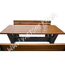 Стол с лавочками комплект со спинкой «Гарден» для беседки, дачи, фото 3